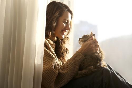 飼い主と猫