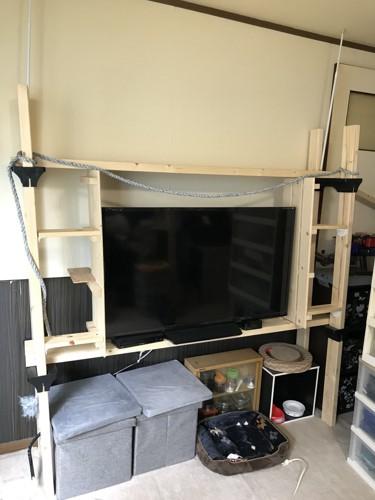 テレビ台兼キャットウォーク