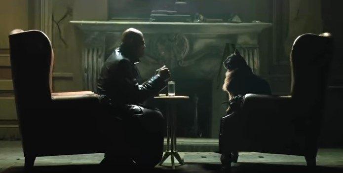 向かい合う男とアウル・キティ