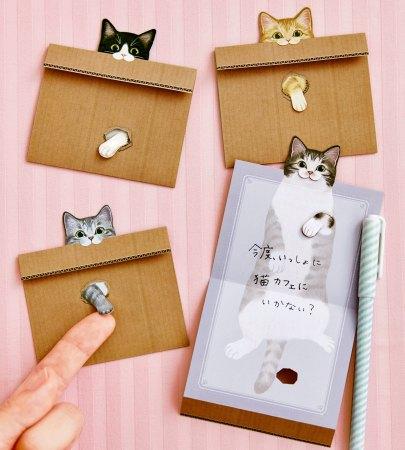 猫のメッセージメモ