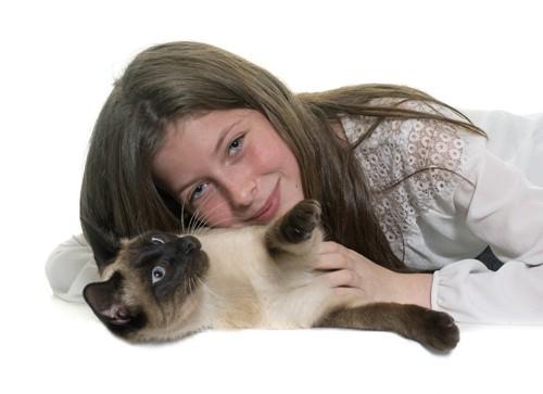べったりな猫と飼い主