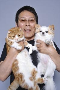 漣さんと猫と犬