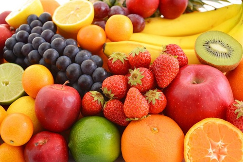 フルーツがたくさん集合している