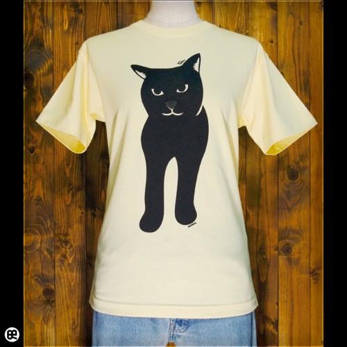 Black cat Tシャツ フロント