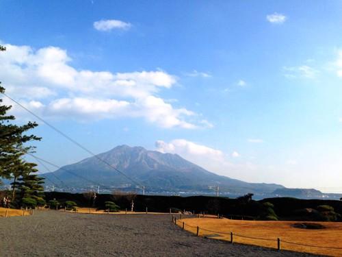 仙厳園からの桜島