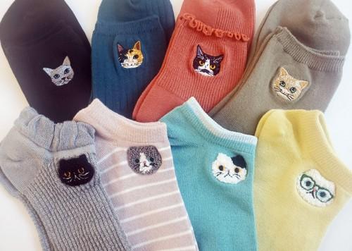 出展イメージ 猫靴下
