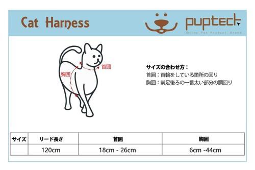 ハーネスの測り方
