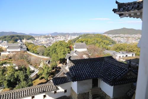 姫路城から見た街