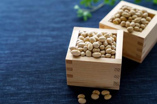 マスに入った節分の豆