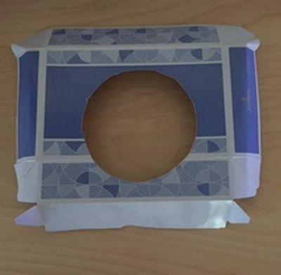入り口用の紙(空き箱の一部)