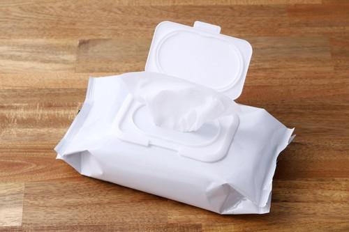 真っ白な除菌シート