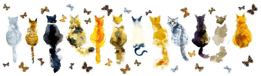 猫の水彩画