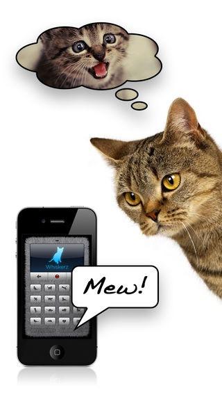 人猫語翻訳機の画面