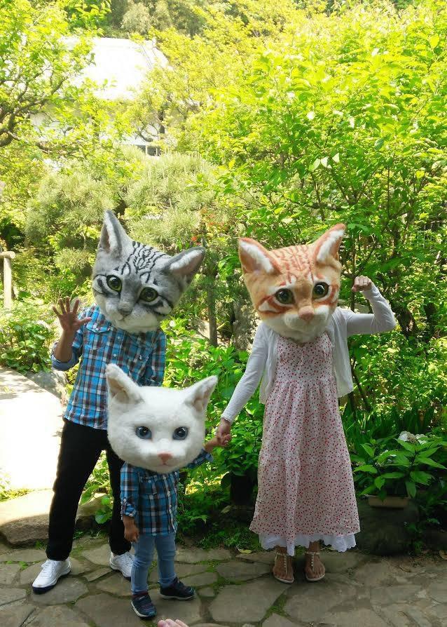 猫の被り物の写真