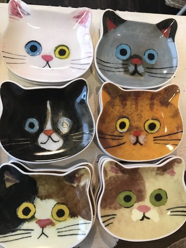 猫フェイス豆皿