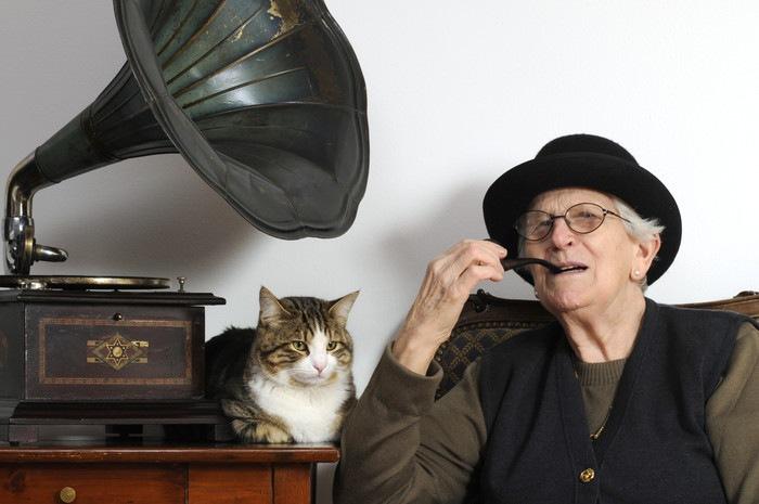 猫とおじいちゃん