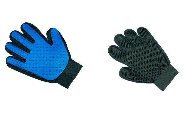 手袋型のラバーブラシ