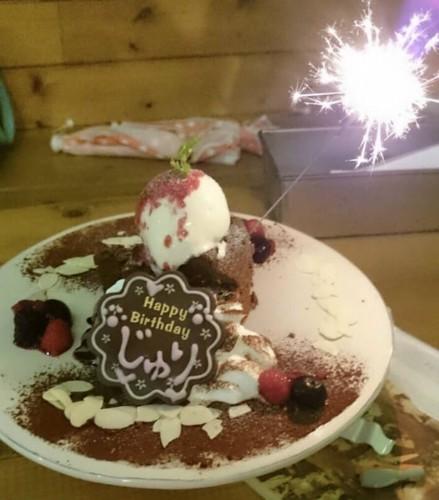 猫カフェのケーキ