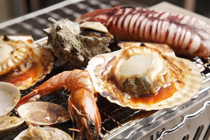 浜焼きの海鮮類
