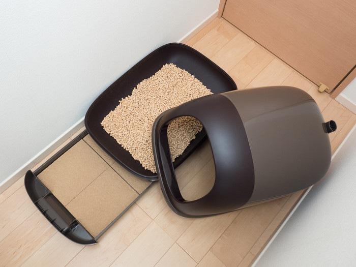 猫のシステムトイレ