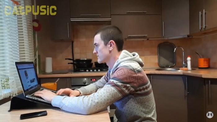 パソコンと飼い主