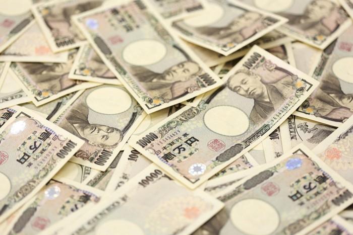沢山の1万円札