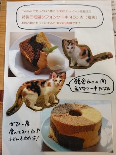 三毛猫シフォンケーキ