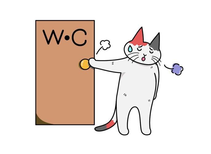 トイレが出なかった猫のイラスト