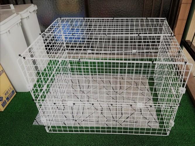 手作りの猫用簡易ケージ