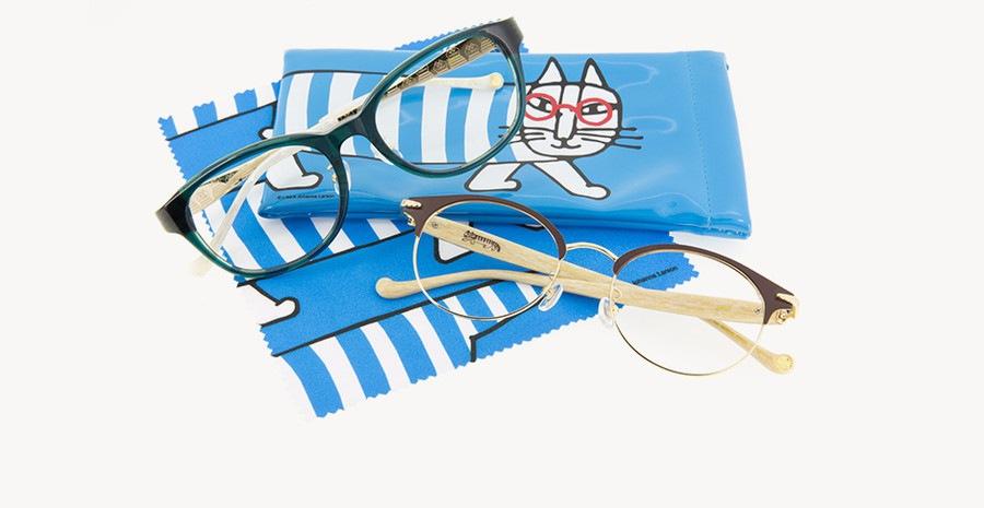 ZoofとLISA LARSONのコラボメガネ