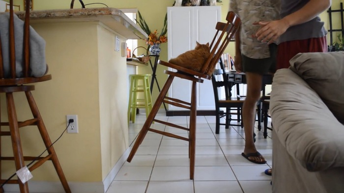 椅子の固定に成功
