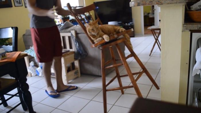 椅子の固定に失敗