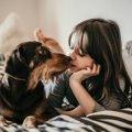 愛犬とキスをするべ…