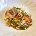 白菜と豚肉のわんちゃん用回鍋肉♪