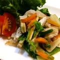 根野菜の豚肉炒め