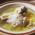 鶏とキクイモのスープ