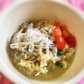 しらすと小松菜のスープパスタ♪