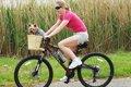 犬を自転車に乗せる…の画像