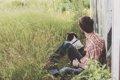 【犬と人間】深い絆…の画像