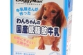 犬に牛乳を飲ませる…の画像