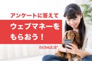 わんちゃんホンポ【プレゼントキャンペーン】アンケートに答えて電子マネーをもらっちゃおう!!