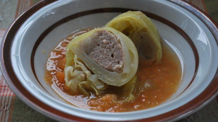 【わんちゃんごはん】『里芋入りロールキャベツ~人参スープ仕立て』のレシピ