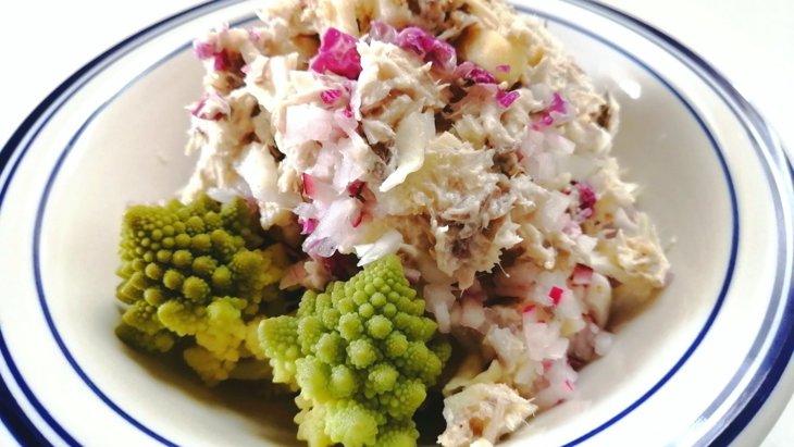【わんちゃんごはん】『鯖とりんごのヨーグルトサラダ』のレシピ
