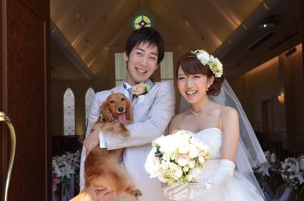 ワンちゃんの結婚指輪&ワンちゃんと一緒の結婚式で永遠の誓いを♪(画像)