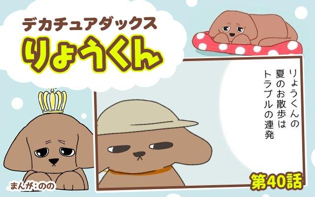 デカチュアダックスりょうくん【第40話】「夏のお散歩」