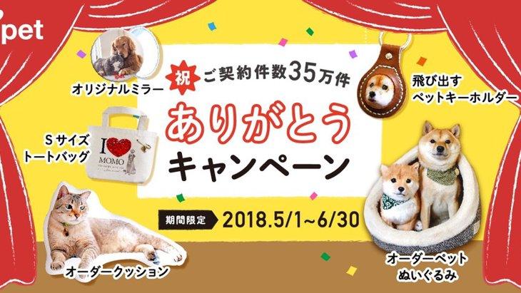 【残り5日!】 ペット写真で作るオリジナルグッズキャンペーン実施中!