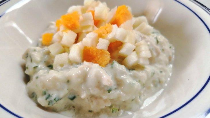 【わんちゃんごはん】とろとろフルーティー『りんごとヨーグルトのたべるスープ』のレシピ