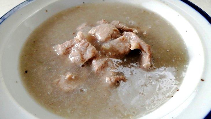 【わんちゃんごはん】お腹ぽかぽか『梨とれんこんのジンジャースープ』のレシピ