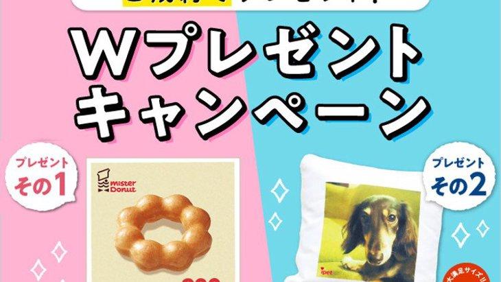 【締切間近!】ミスタードーナツギフトチケット200円&オリジナルクッションプレゼント