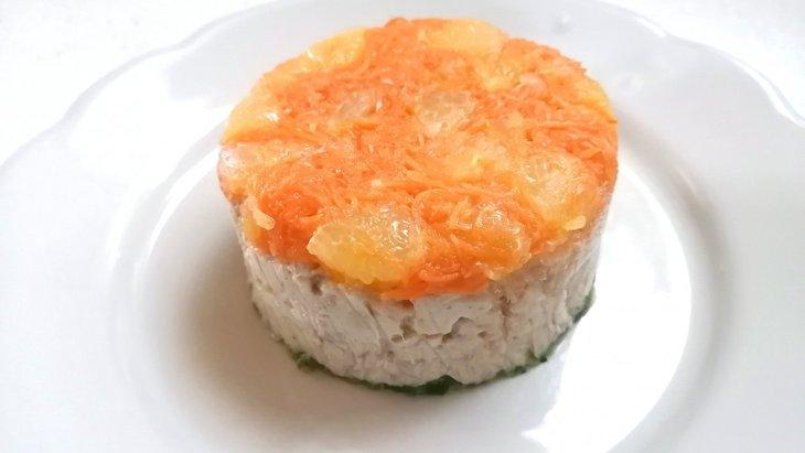 【わんちゃんごはん】『白身魚とオレンジのケーキ』のレシピ